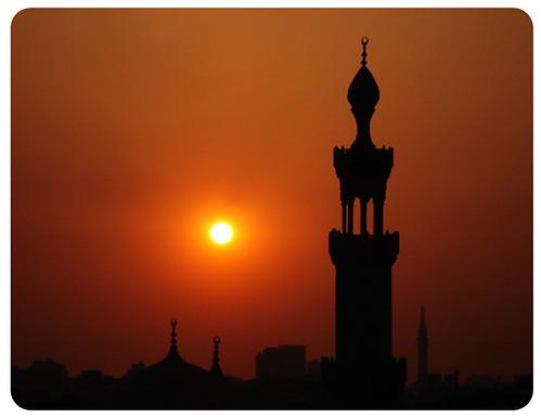 moskee islam zonsondergang