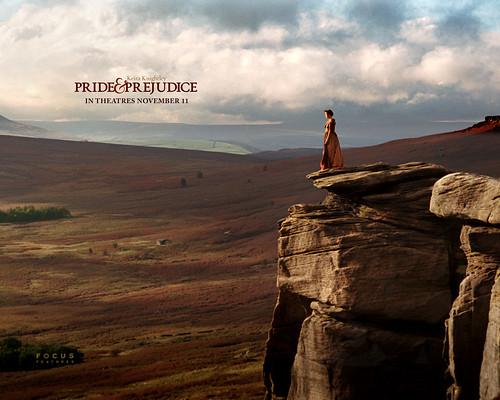 P&P 2005 poster,紅色基調應該是後期執相效果了,電影裡看到的跟真實接近一點
