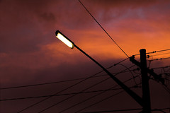 Dusk Streetlamp (sparkleshots (trying to catch up)) Tags: street light sunset clouds canon dusk streetlamp sydney australia nsw