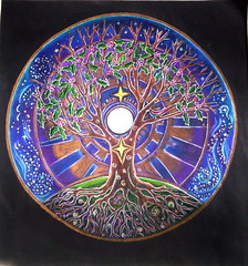 Full Moon Mandala...winter solstice (blue_sea_art) Tags: moon tree art circle colorful earth unique magic mandala full expressive mystical inspirational rooted