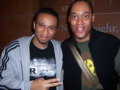 Boondocks creator Aaron McGruder and cartoonist Masheka Wood