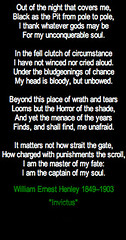 the fate belief and the concept of the free will in invictus by william ernest henley William ernest henley has 289 books on goodreads with 4365 ratings william ernest henley's most popular book is invictus.