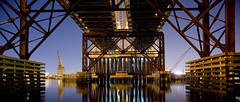 Fore River Bridge, Quincy, MA (Lance Keimig) Tags: panorama night quincy 5d bans foreriverbridge