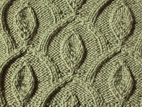 Vintage Leaf Knitting Pattern : Modal title