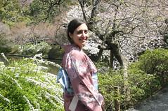 Walking in Kyoto with kimono