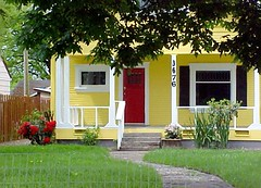Yellow House with Red Door (Pixel Packing Mama) Tags: beautiful yellow lovely1 mellowyellow exclamationpoints doorsset willamettevalleyoregon dorothydelinaporter worldsfavorite beautifuluniverse reallyunlimited favoritedpixset theredmakesitwithoutdominating corvallisphotographers whereincorvallisisit pixelpackingmama worldsfavorite1ormorefaveseachnolimitoffavedphotopool exclamationpointspool pixwithexclamationpointsincommentsset yellowset yellowhousecookbookpool exclamationpointsincommentsset favoritedpixfirsthalfof2010set yelloworangehousespool oversixmillionaggregateviews over430000photostreamviews