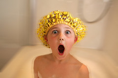 bath time (classic perfection) Tags: classic hat shower bath funny startled cap perfection shocked classicperfection