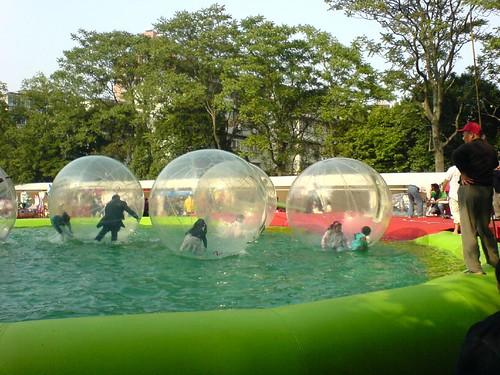 中山公园的气泡