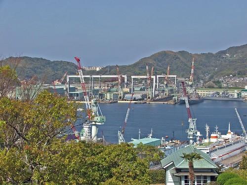 Mitsubishi Heavy Industries shipyard Nagasaki.