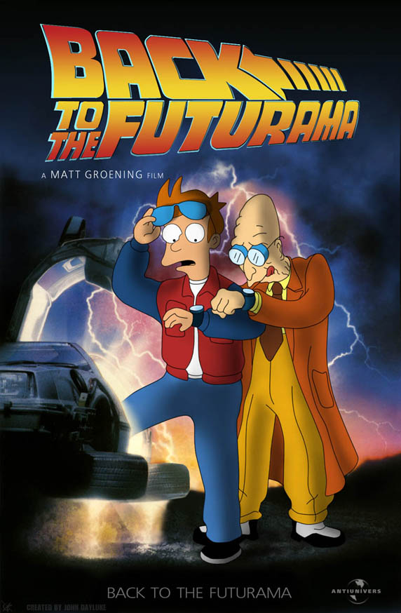 Thumb Poster de Futurama estilo Volver al Futuro