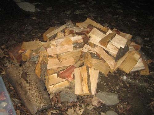 SOOOOO much wood