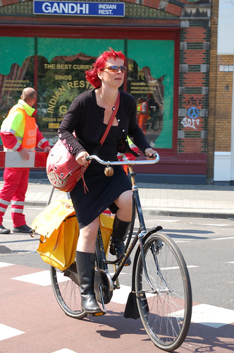 Lady on a Bike