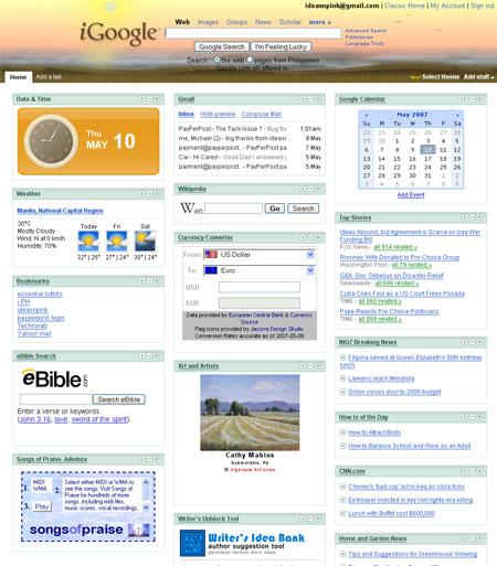 ejemplo igoogle