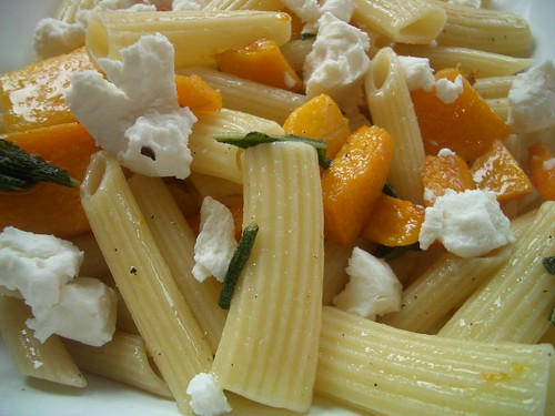 pasta with butternut squash & brown butter sauce