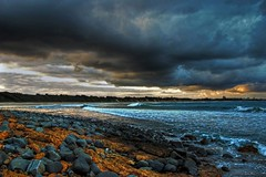 Wallabi Point - NSW - Australia (Earlette) Tags: sea storm colour beach photoshop nikon rocks australia nsw hdr headland supershot d80 earlette wallabipoint wowiekazowie