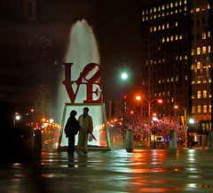 Engagement (andertho) Tags: love philadelphia statue engagement marriage philly robertindiana jfkpark phillyist