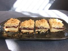 Double-Cherry Streusel Bars