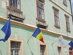 Sibiu flags 12 May 2007