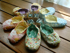 slippers from Japanese mag (shebrews) Tags: baby shoes sewing accessories slippers japanesecraft