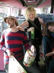 Jonna & Pekka with baby-keg