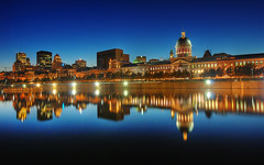 Old Montreal Skyline at the Blue Hour | HDR | Montreal, Canada | davidgiralphoto.com (David Giral | davidgiralphoto.com) Tags: old longexposure blue sky urban chien canada david reflection skyline architecture night port landscape evening nikon bravo long exposure downtown cityscape market quebec dusk montreal landmark hour entre loup bluehour d200 paysage et marché hdr vieux heure bonsecours giral magique 3xp photomatix nikond200 18200mmf3556gvr entrechienetloup outstandingshots flickrsbest tthdr copyrightdgiral davidgiral anawesomeshot impressedbeauty superaplus aplusphoto goldenphotographer flickrdiamond bratanesque bestofr
