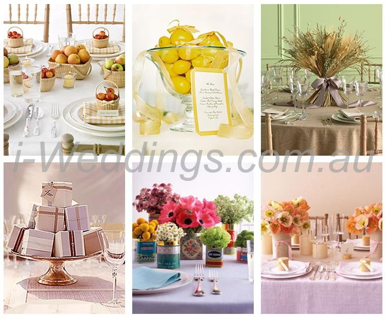 Here 39s her collection of easy wedding centrepieces in the form of an