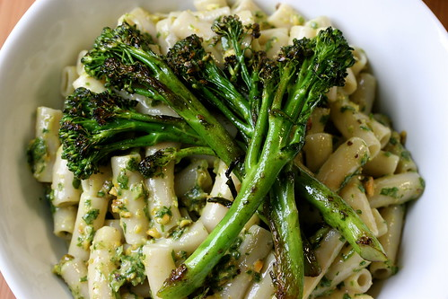 Pistachio Arugula Pesto with Sauteed Broccolini
