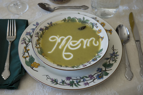 Asparagus soup for Mother's Day brunch