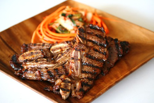 Korean BBQ Beef on Crispy Wonton Chip - Steamy Kitchen Recipes