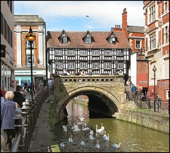 High Bridge, High Street, Lincoln (Lincolnian (Brian)) Tags: bridge england building beautiful architecture river interesting lovely1 medieval lincolnshire lincoln abc highstreet highbridge timberframe straightfromcamera supershot riverwitham abigfave superbmasterpiece