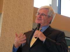 Newt Gingrich speaks in West Des Moines