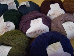 Heathered Palette yarn