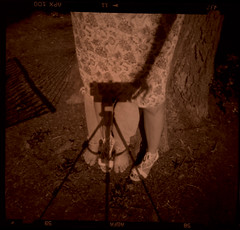 4 feet (foreversouls) Tags: selfportrait tree film us pinhole zeroimage zero69