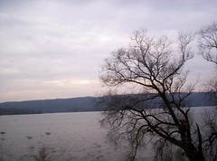 Driving along Cayuga Lake, NY