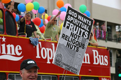 God Wants Spritual Fruits, Not Religous Nuts. (Kealoha1981) Tags: gay bus love fruits canon lesbian geotagged fun photography photographer dof religion nuts drinking happiness glbt canoneos20d socal longbeach prideparade topless villa betsy vodka wants gaypride transexual bi glc allrightsreserved tang 2007 religous lbc triplesec oceanblvd grannys spritual shooo bluffpark canonef28135mmf3556isusm kealoha not thebiggestgroup longbeachpride pride2007 kealohavilla longbeachlesbiangayprideparadefestival pridetang paraderainbowfriendsfamilyloved oneshomepride busredbustour notreligiousnuts godwantsspiritualfruits gloomylittlecloud gloomylittlecloud kealohavilla