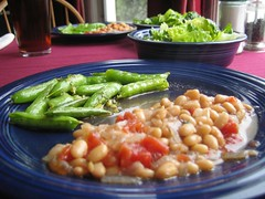 White Beans, Sugar Snap Peas, and Romaine Salad