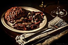 Delicioso (ricardo.olivera17) Tags: zombie brain fingers nose fork knive
