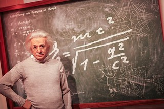 Albert Einstein Wax Figure