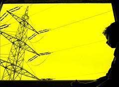 life under the power pole (ozma) Tags: boy black window yellow contrast photoshop 350d waiting child fenster watching kind gelb rebelxt finn powerpole kontrast schwarz junge warten hoping strommast beobachten hoffen krs10 lifeunderthepowerpole