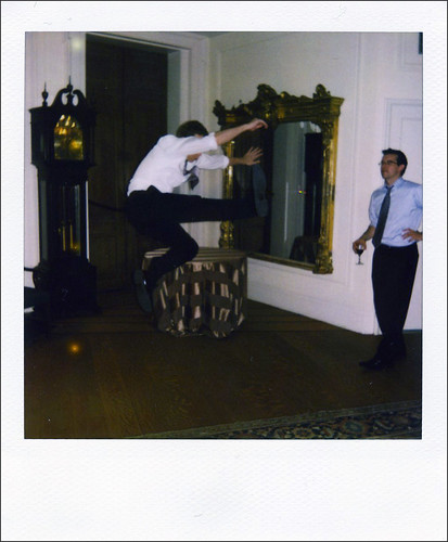This is what happens when you combine free alcohol and a polaroid camera set out for guests' use