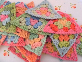 Pile of granny triangles