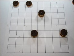 Cookie Checkers, black has won.