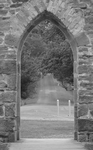 Gate at Port Arthur's Chapel