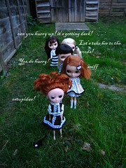 Inquisitors having a field day (girl enchanted) Tags: witch burning kenner blythe tied stake moof witchhunt