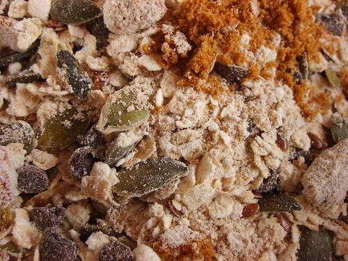 Mélange Biscuits Graines Courges Graines de Lin Choco Farine de Châtaigne