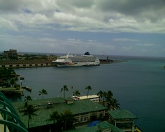 Cruise ship from Aloha Tower
