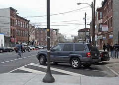 Example of Back-In Angle Parking in Philadelphia