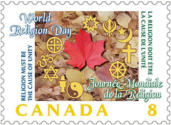 world religion day stamp