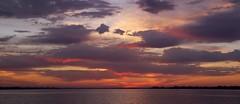 Cloudy Sunrise (b-cline) Tags: water clouds sunrise florida bradenton richcolors