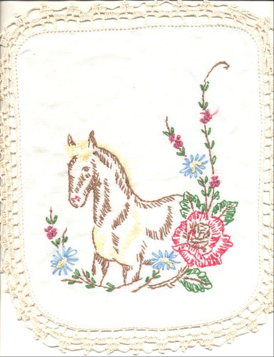 Embroidered horse